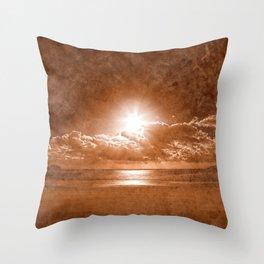 Acrylic Jersey Sunset - Sepia Fantasy Throw Pillow