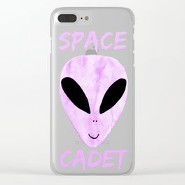 Neon Violet Space Cadet Clear iPhone Case