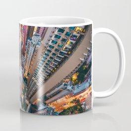 Aerial City Skyline (Color) Coffee Mug