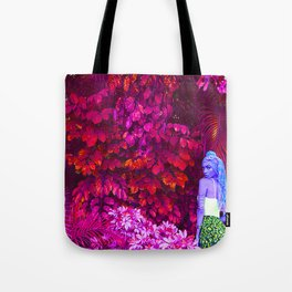 Etheric Alien Goddess in Jungle Tote Bag