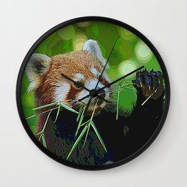 AnimalPaint_RedPanda_20171201 Wall Clock