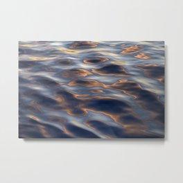 High Sea Textures At Sunset Metal Print