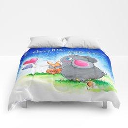 Ellie and Bunny - Dream Big Comforters
