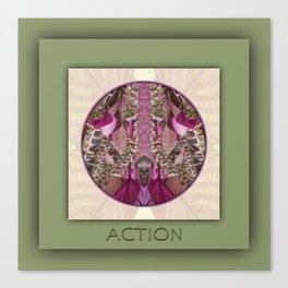 Action Manifestation Mandala No. 4 Canvas Print