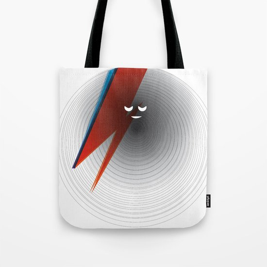 Round Bowie Tote Bag