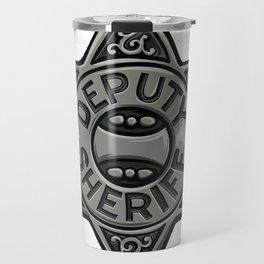 Deputy Sheriff Badge Travel Mug
