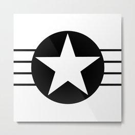 Black And White Star Metal Print