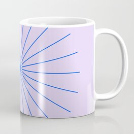 SpikeyBurst - Pastel Lilac / Purple with Blue Coffee Mug