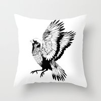 sparrow Throw Pillows featuring Sparrow by akreon