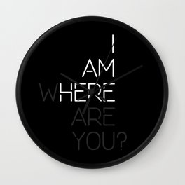 Where Are You? Wall Clock