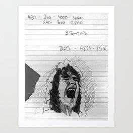 runnin' with the devil Art Print