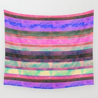 dc Wall Tapestries featuring  Serape Stripe {DC} by Schatzi Brown