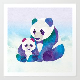 Shanti Sparrow: Alfie & Alice the Pandas Art Print