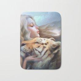 Angel of Tigers Bath Mat