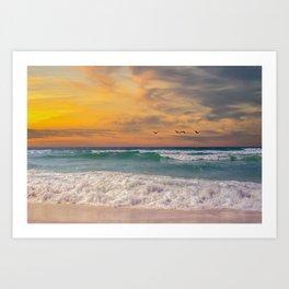 Navarre Beach Sunset Art Print