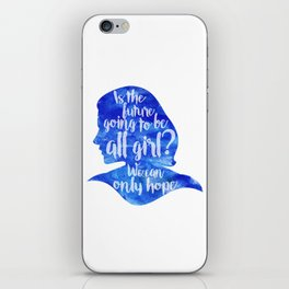 Is the future going to be all girl? iPhone Skin