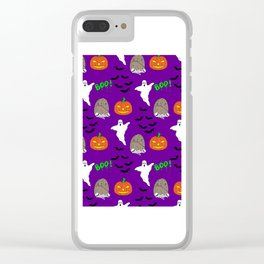 Spooky halloween print Clear iPhone Case
