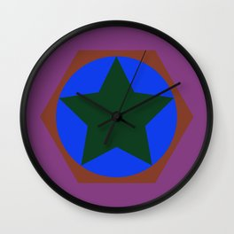 cirlce in star Wall Clock