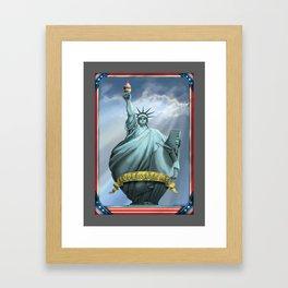 Statue of Liberty Supersize Me Framed Art Print