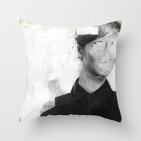number Throw Pillows featuring Faceless | number 01 by FAMOUS WHEN DEAD