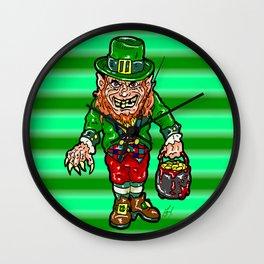Have a HORRIFICALLY Awesome Saint Patricks Day with St. Patty's little Leprechaun (Warwick Davis)  Wall Clock