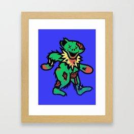 Grateful undead bear Framed Art Print