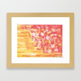 Yellow Abstract Framed Art Print