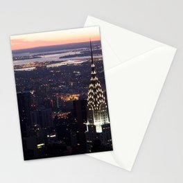 New York Manhattan Evening Dusk Stationery Cards
