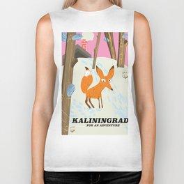 """Kaliningrad """"for an adventure"""" Biker Tank"""