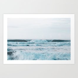 Orange Beach Surf Art Print