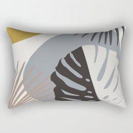 Minimal Yin Yang Monstera Fan Palm Finesse #2 #tropical #decor #art #society6 Rectangular Pillow