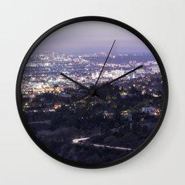 Los Angeles Nightscape No. 2 Wall Clock