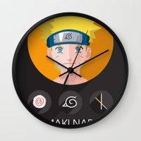 naruto Wall Clocks featuring naruto by pixel.pwn | AK