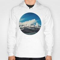 alaska Hoodies featuring Alaska Mountain by Leah Flores