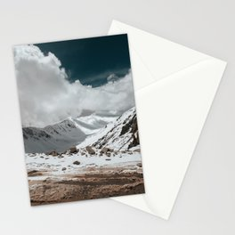 Beautiful Sky and Snow capped mountains in leh-ladakh Stationery Cards