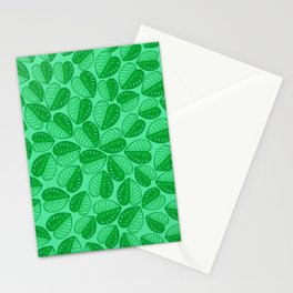 Monstera Leaf 2d Graphic Pattern Stationery Cards