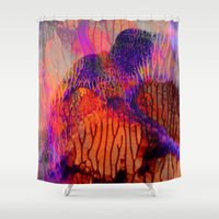 psych Shower Curtains featuring The Reef by Work the Angle