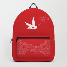Wings of Love - Red Backpack