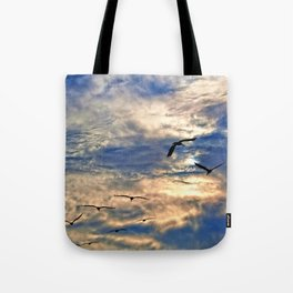 Up Early With the Birds Tote Bag