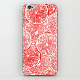 Watercolor grapefruit slices pattern iPhone Skin
