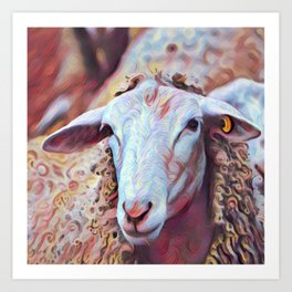 Hey Ewe! Art Print