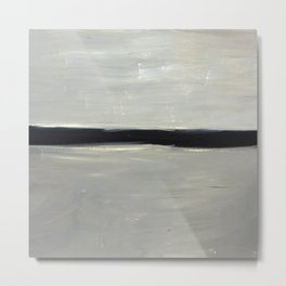 Grey with Black Stripe Metal Print