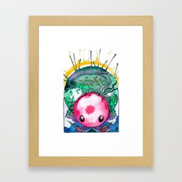 Orb Headed Alien Creature Framed Art Print