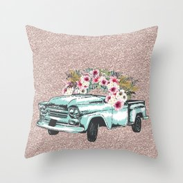 Flower Crown Vic Throw Pillow