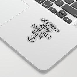 Curse Like A Sailor Funny Quote Sticker