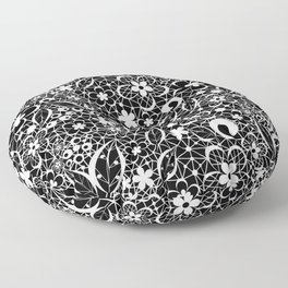 White lace Floor Pillow