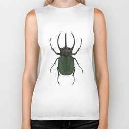 Atlas Beetle Insect Digital Watercolor Biker Tank
