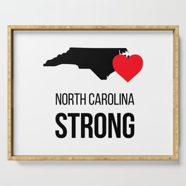 North Carolina strong / Hurricane season Serving Tray