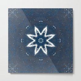 Blue Star Flower Metal Print