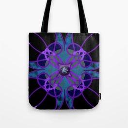 Flower in Purple Tote Bag